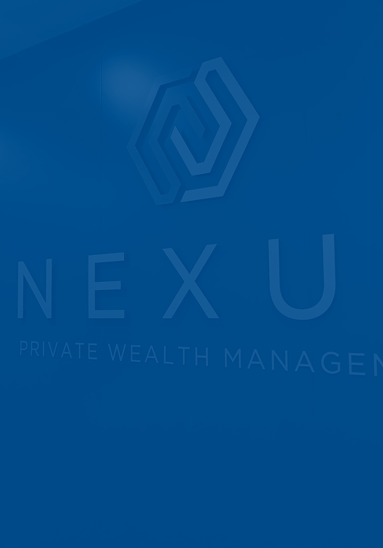 Nexus big logo sign on wall in office